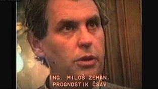 Miloš Zeman v roce 1989. Tvrdý kritik komunistické ekonomiky