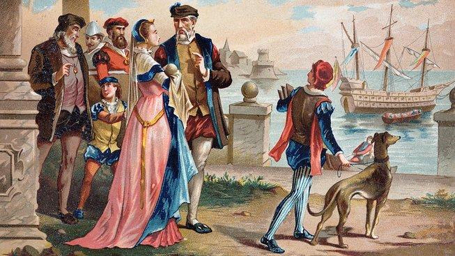 Tycho Brahe při odjezdu z Uranienborgu
