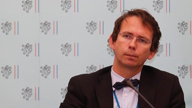 Petr Drulák na fotografii z konference na Ministerstvu zahraničí (rok 2014)