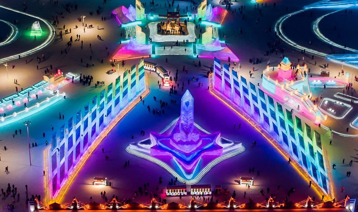 Ledový festival v Charbinu