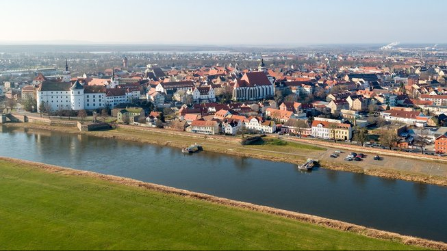 Pohled na saské město Torgava (Torgau)