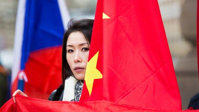 Vítání čínského prezidenta Si Ťin-pchinga v Praze, 2016
