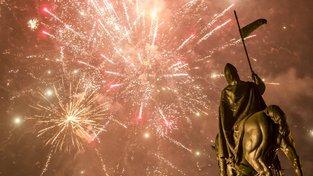 Silvestrovské oslavy vítající rok 2020