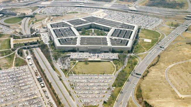 Budova Pentagonu z ptačí perspektivy