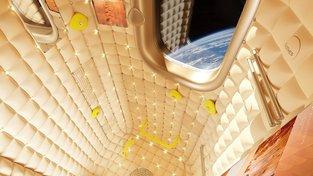 Jedna z možných podob pokoje vesmírného hotelu. Ze studie společnosti Axiom