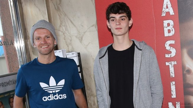 Petr Harazin (vlevo) a Josef Trojan na tiskovce k filmu Abstinent