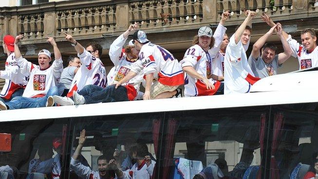 Oslavy hokejového zlata na Staroměstském náměstí v roce 2010
