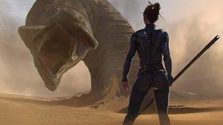 Obří pouštní červi jsou pro svět Duny typičtí