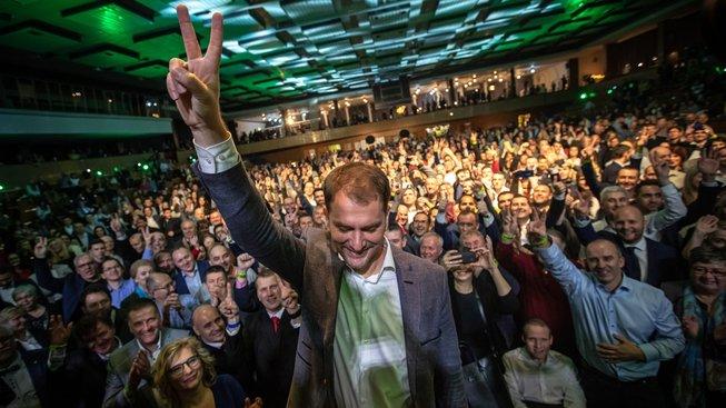 Lídr vítězného hnutí OĽaNO Igor Matovič