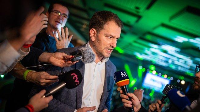 Vítěz slovenských parlamentních voleb Igor Matovič
