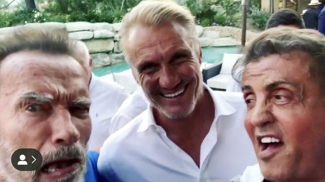 Arnold Schwarzenegger, Dolph Lundgren a Sylvester Stallone