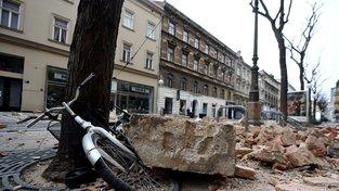 Záhřeb v neděli zasáhlo zemětřesení o síle minimálně 5,3 stupně