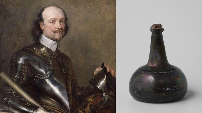 Kenelm Digby je otcem moderní lahve na víno. Jeho výrobky byly podobné tomu na obrázku, který je ovšem o půl století novější.