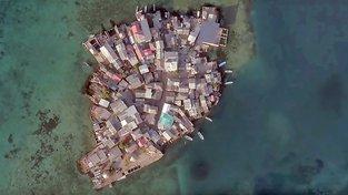 Santa Cruz del Islote - nejhustěji osídlený ostrov na světě