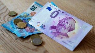 Bankovka v hodnotě nula eur s Karlem Marxem