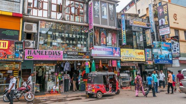 In The Street of Colombo. Colombo is capital of Sri Lanka