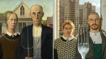 Vtipné nápodoby slavných uměleckých děl