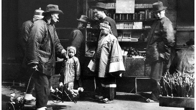 Čínská čtvrť v San Franciscu kolem roku 1900