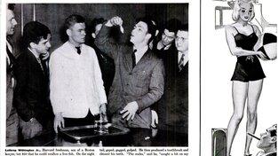 Zpráva o sázce se objevila i na stránkách magazínu Life, hned vedle reklamy na doutníky