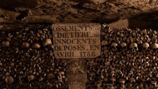 Většina kostí pochází ze Hřbitova neviňátek (Les Innocents)
