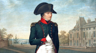 Napoleon Bonaparte a jeho typický postoj