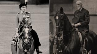 Alžběta II. při Trooping the Colour (1952) a Tomáš Garrigue Masaryk během vojenské přehlídky v centru Prahy (1933)