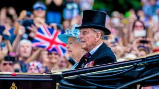 Britská královna Alžběta II. s manželem, princem Philipem