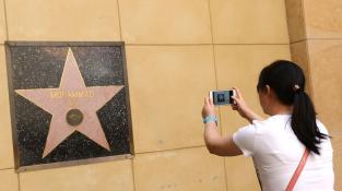 Hvězda Muhammada Aliho není jako jediná na chodníku, ale na zdi