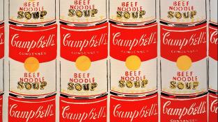 Slavné Campbellovy polévky od Andyho Warhola