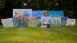 Desetiletý 'mini Monet': Nad krásou dívčiných obrazů se tají dech