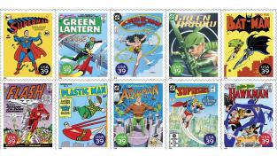 Superhrdinové vyšli i na známkách