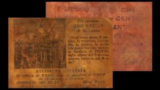 Měděná pohlednice z roku 1936