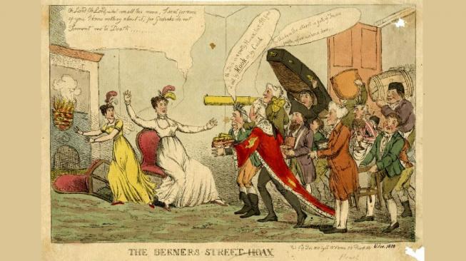 Berners Street Hoax - dobová karikatura