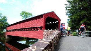 Sachs Covered Bridge v Gettysburgu v Pensylvánii