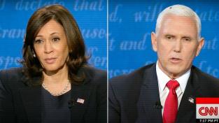 Debatu kandidátů na viceprezidenta USA narušila moucha na Penceové hlavě