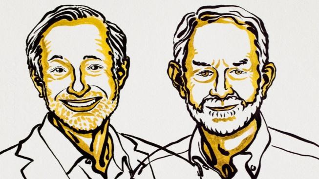 Paul Milgrom (vlevo) a Robert Wilson. Letošní držitelé Nobelovy ceny za ekonomii.