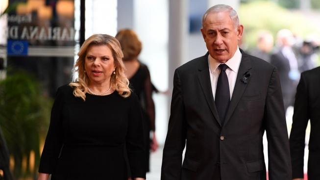 Benjamin Netanjahu s manželkou Sarou