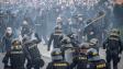 Protest odpůrců proticovidových opatření skončil bitkou s policií