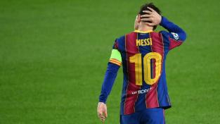 Lionel Messi během utkání Barcelony s Ferencvárosem