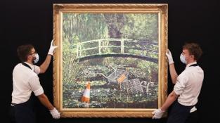 Banksyho variace na Moneta se prodala za 226 milionů