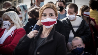 Běloruská opoziční politička a bývalá prezidentská kandidátka Svjatlana Cichanouská