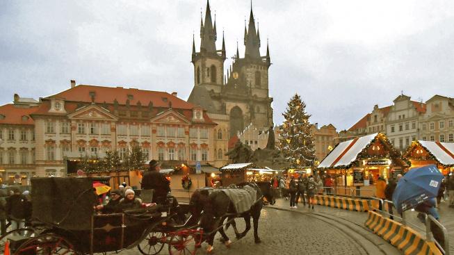 Vánoční trh na Staroměstském náměstí v roce 2019