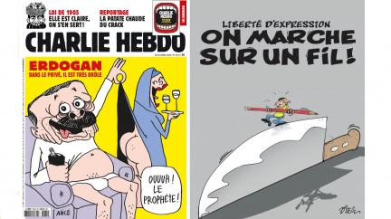 Aktualizováno: Turecko hrozí kvůli karikaturám. Budeme znovu Charlie?