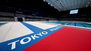 Nový olympijský plavecký stadion v Tokiu