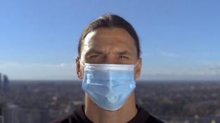 Zlatan Ibrahimovic se zapojil do kampaně proti pandemii koronaviru