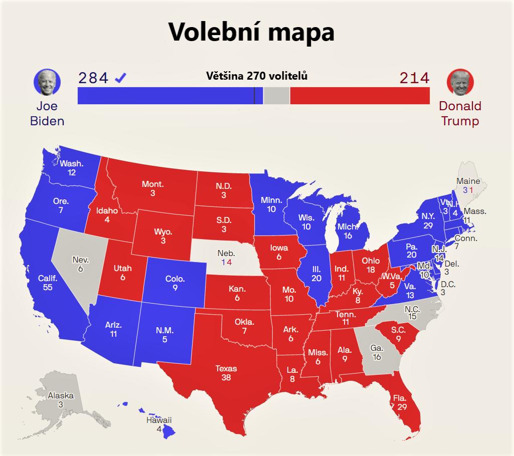 Volební mapa 1