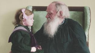 Lev Nikolajevič Tolstoj s vnučkou Taťjanou