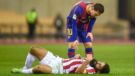 Messi byl proti Bilbau poprvé v dresu Barcelony vyloučen