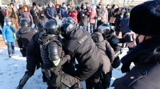 Zásah ruské policie proti demonstrantům v Chabarovsku
