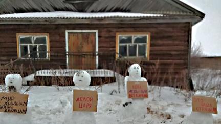 Jak ruská policie rozehnala demonstraci sněhuláků